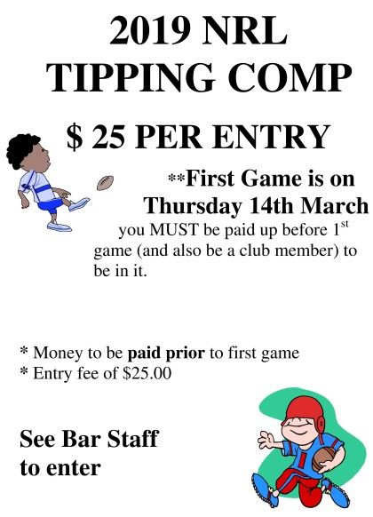 19 NRL TIPPING COMP